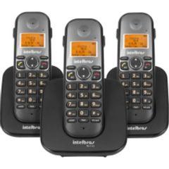 Telefone-Sem-Fio-digital-Com-Dois-Ramais-Adicionais-TS-5123-Preto-Intelbras_foto1