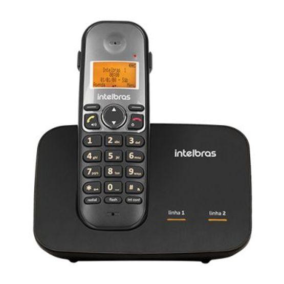 Telefone-Sem-Fio-Digital-Com-Entrada-Para-2-Linhas-TS-5150-Preto-Intelbras_foto1