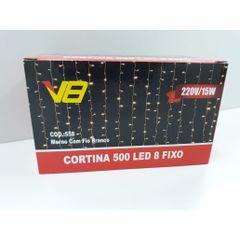 Pisca-Led-Cortina-Fixa-Fio-Branco-e-Luz-Branca-Quente-com-500-Lampadas-220V-Brilliant-foto1