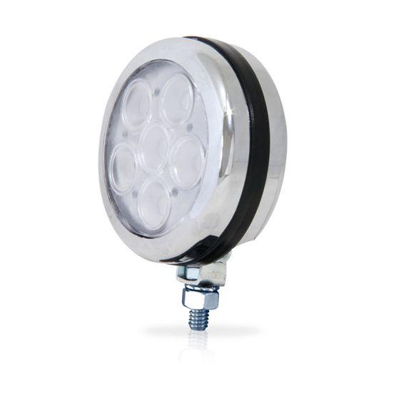 Farol-Auxiliar-Redondo-19-LEDs-Corpo-Cromado-Azul-12V-AP808---Autopoli