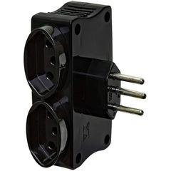Multi-USB-Carregador-2-USB-e-2-Tomadas-Cor-Preto-DN1650-Daneva-foto1